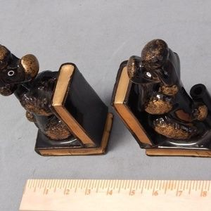 Vintage Japan Poodle Bookends
